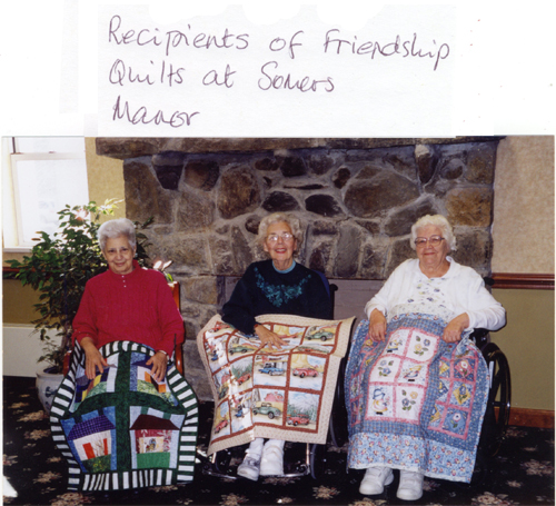 Recipients of Friendship Quilts At Somers Manor